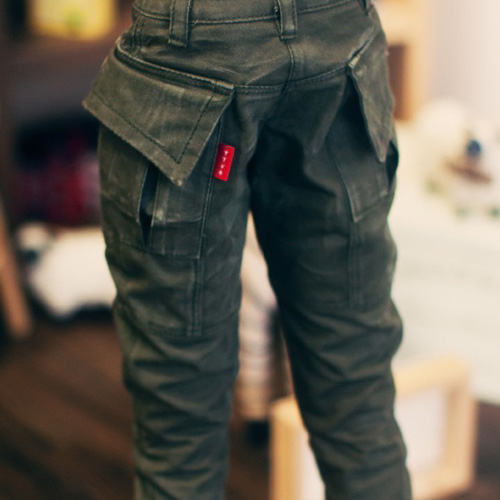 SD17 Washing Cotton Baggy Pants - Khaki