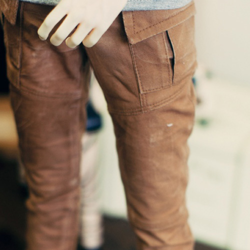 SD17 Washing Cotton Baggy Pants - Beige