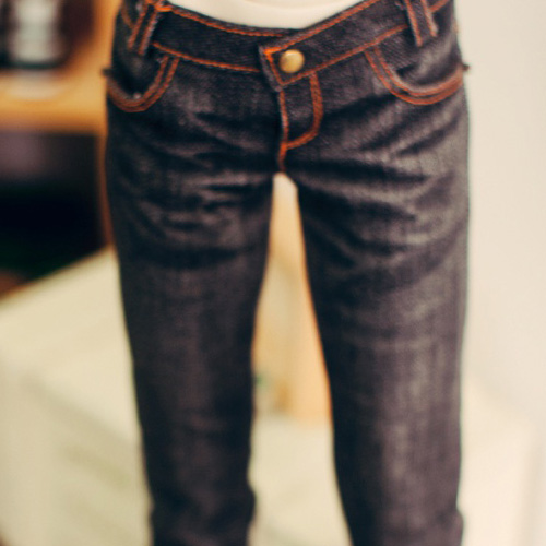 SD17 Washing Slim Jeans - Black