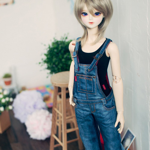 SD13 Girl Washing Overalls - Blue