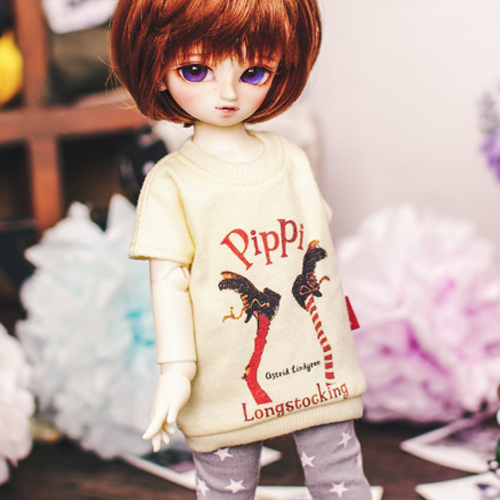 USD Pippi Long T shirt - Yellow