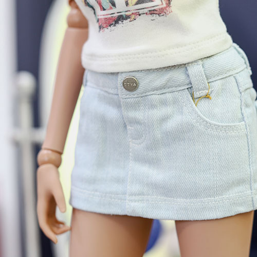 SD13 Girl & Smart Doll Stone Washing Skirt - Sky