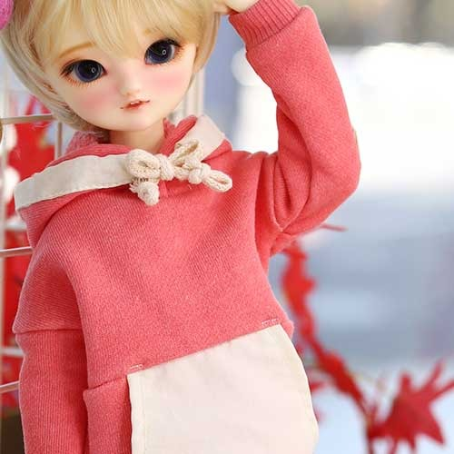 MSD & MDD Pigment Coloration Hooded -Pink