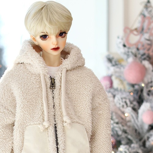 SD13BOY Fur Zipup - Ivory