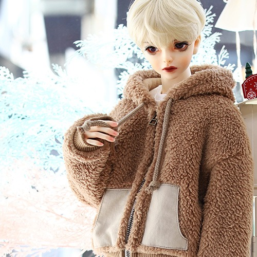SD13BOY Fur Zipup - Brown