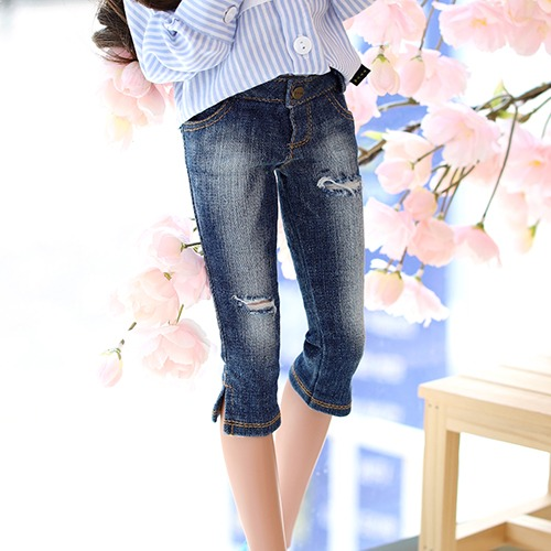 SD13 GIRL & Smart Doll New Washing Half Pants - Blue