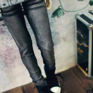 SD17 Real Skinny Washing Jeans - Black