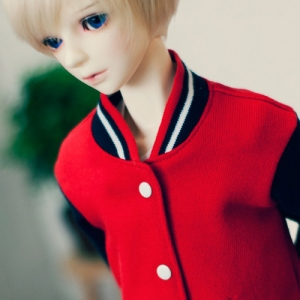 SD13 Boy Baseball Jumper - Red & Navy