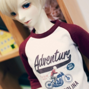 SD13 Boy  Adventure Raglan T shirt - Wine