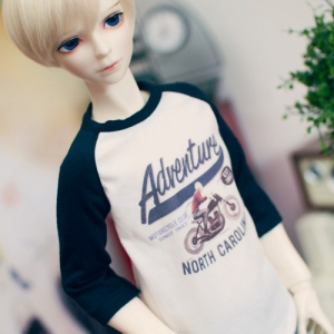 SD13 Boy Adventure Raglan T shirt - Navy