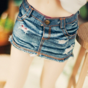 SD13 Girl  Real Vintage Denim Washing Skirt