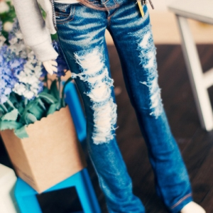SD13 Girl Destroyed Washing Jeans