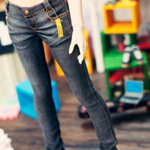 SD13 Girl Real Skinny Washing  Jeans - Black