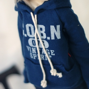 MSD Vintage Sprit Hooded T - Navy