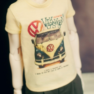 SD13 Boy Van Decal T shirt - Yellow
