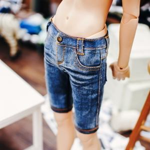 SD13 Boy Washing Slim Short Pants - Blue