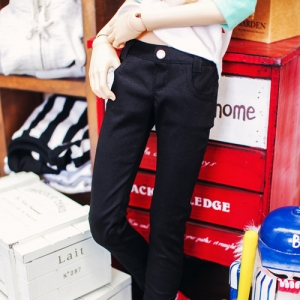 SD13 Boy Color Skinny Pants - Black