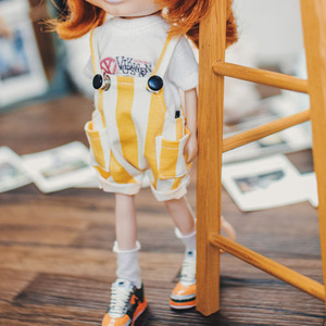 Blythe Baggy Short Overall - Yellow