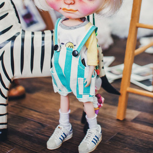 Blythe Baggy Short Overall - Turkuois