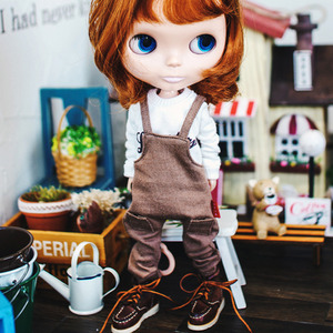 Blythe Baggy Cotton Overall - Brown