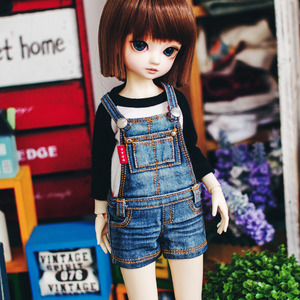 Bunny New Washing Short Overall - Blue