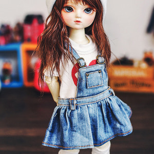 USD Washing Overalls Skirt - Blue