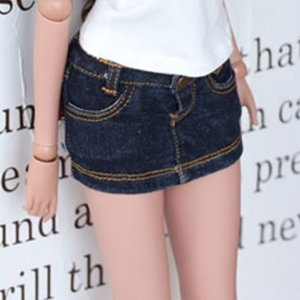 SD13 Girl & Smart Doll Stone Washing Skirt - D.Blue