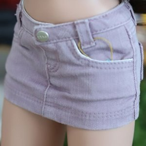 Smart Doll Stone Washing Cotton Skirt - Purple