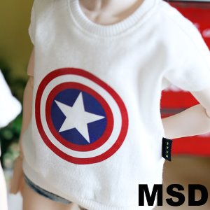 MSD Star shield T shirt - White
