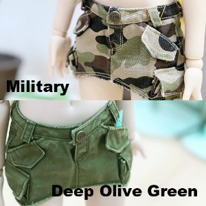 MSD & MDD Vintage Cargo Skirt - Military & Deep Olive Green