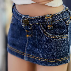 SD13 Girl & Smart Doll Stone Washing Skirt - Blue