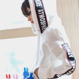 SD17 Lettering Hooded T - White
