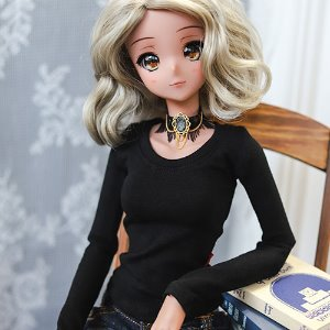 SD13 Girl & Smart Doll Slim Basic T shirt - Black