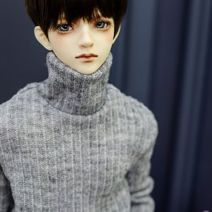 SD17 Simple Turtle Neck Kint - L.Gray