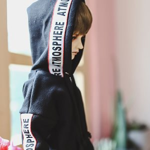 SD17 Lettering Hooded T - Black