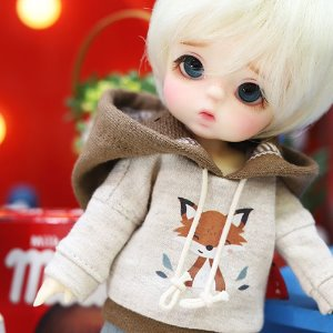 Cute Fox Hooded T - Brown