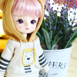 Lion Hooded - Mustard