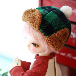 USD Checked winter hat - Green