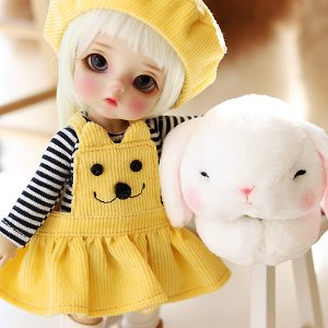 Cute Mong Skirt Set-Yellow