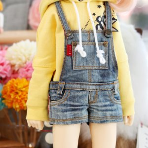 MSD & MDD  Washing Short Overalls Pants - Blue