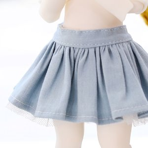 USD pleated skirt -Sky