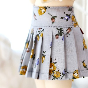 USD Flower pleated skirt - SKY