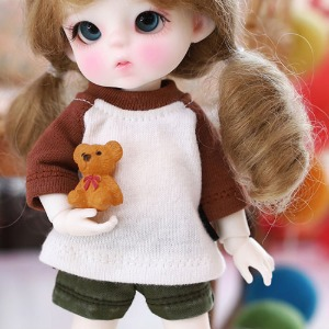 16CM fall Raglan T shirt - D.Brown