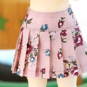 USD Flower pleated skirt - Pink