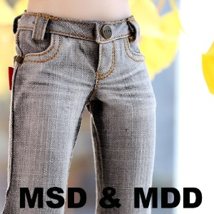 MSD & MDD Washing Basic Slim Jeans - Gray