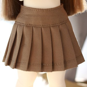 USD Basic Pleated Skirt - Brown