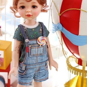 Paola Reina New Washing Short Overalls - Blue