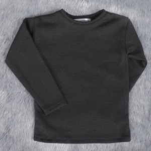 [ID75]Basic long sleeve T-shirt(Black)