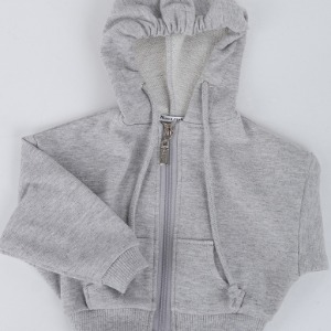 [ID75]Over fit hood zip-up(Gray)