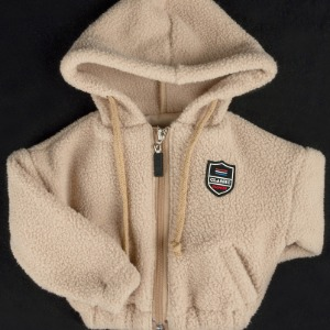 [ID75]Fluffy fleece zip-up(Beige)